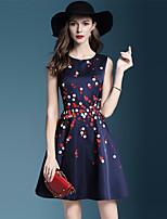 cheap -JOJO HANS Women's Basic / Elegant Sheath Dress - Solid Colored