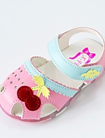 Недорогие -Девочки Обувь Микроволокно Лето Удобная обувь Сандалии На липучках для Дети Белый / Розовый