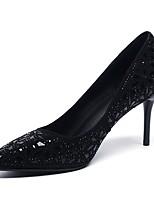 Недорогие -Жен. Обувь Замша Весна лето Удобная обувь Обувь на каблуках На шпильке Черный
