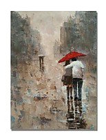 cheap -Oil Painting Hand Painted - People Comtemporary / Modern Canvas