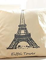 Недорогие -1 штук Хлопок / Лён Монограмма, Рисунок / Эйфелева башня европейский