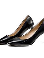 Недорогие -Жен. Обувь Наппа Leather Весна Удобная обувь / Туфли лодочки Обувь на каблуках На шпильке Черный / Бежевый / Темно-зеленый