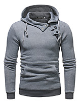 cheap -men's long sleeve slim hoodie - solid colored hooded