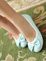 cheap -Women's Shoes PU(Polyurethane) Spring & Summer Comfort Flats Flat Heel Closed Toe Black / Blue / Pink