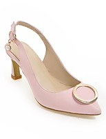 Недорогие -Жен. Обувь Полиуретан Весна лето Удобная обувь Обувь на каблуках На шпильке Белый / Зеленый / Розовый