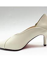 abordables -Femme Chaussures Cuir Nappa Printemps / Automne Confort / Escarpin Basique Chaussures à Talons Talon Aiguille Beige / Gris
