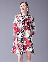 cheap -STEPHANIE Women's Basic / Chinoiserie Set - Floral Dress / Mini / Summer / Work / Floral Patterns