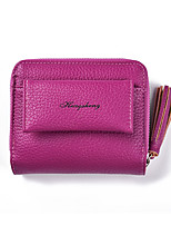 cheap -Unisex Bags PU(Polyurethane) Wallet Zipper / Tassel Purple / Fuchsia / Brown