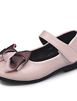 cheap -Girls' Shoes PU(Polyurethane) Fall & Winter Flower Girl Shoes Flats Walking Shoes Bowknot / Buckle for Kids White / Black / Pink