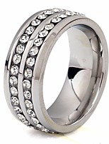 cheap -Men's Cubic Zirconia Classic / Stylish Ring - Stainless Creative, Precious Stylish, Classic, European 6 / 7 / 8 Silver For Street / Going out