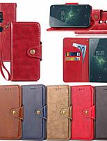 economico -Custodia Per Sony Xperia XZ1 Compact / Xperia XZ2 A portafoglio / Porta-carte di credito / Con supporto Integrale Tinta unita Resistente pelle sintetica per Xperia XZ2 / Xperia XZ1 Compact / Sony