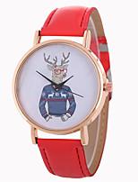 cheap -Women's Wrist Watch Chinese Casual Watch / Lovely PU Band Casual / Fashion Black / White / Blue