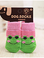 cheap -Dogs / Cats / Furry Small Pets Socks Dog Clothes Simple / Classic / Stars Pink / Light Blue / White / Black Acrylic Fibers Costume For Pets Braided / Cord / Cute