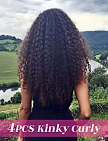Недорогие -4 Связки Монгольские волосы Kinky Curly Необработанные / Натуральные волосы Подарки / Косплей Костюмы / Головные уборы 8-28 дюймовый Естественный цвет Ткет человеческих волос / Мода