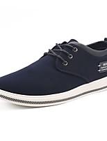 Недорогие -Муж. Полиуретан Осень Удобная обувь Кеды Для прогулок Черный / Синий