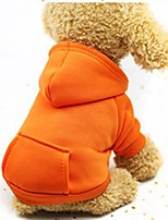 cheap -Dogs / Cats / Furry Small Pets Hoodie / Sweatshirt / Outfits Dog Clothes Solid Colored Coffee / Red / Pink Cotton Costume For Pets Female Sports & Outdoors / Casual / Sporty