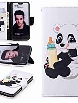Недорогие -Кейс для Назначение Huawei Honor 10 / Honor 7A Кошелек / Бумажник для карт / со стендом Чехол Панда Твердый Кожа PU для Huawei Honor 10 / Honor 7X / Honor 7C(Enjoy 8)