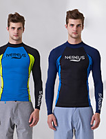 cheap -Men's Diving Rash Guard UV Sun Protection Nylon / Elastane Long Sleeve Swimwear Beach Wear Diving Suit / Top Swimming / Surfing / Snorkeling / Stretchy