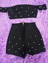 cheap -Women's Set - Polka Dot Skirt