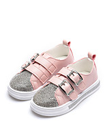 cheap -Girls' Shoes PU(Polyurethane) Spring & Summer Comfort Sneakers Walking Shoes Sparkling Glitter / Magic Tape for Kids White / Black / Pink
