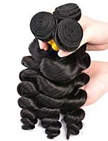 Недорогие -3 Связки Перуанские волосы Свободные волны Необработанные / Натуральные волосы Человека ткет Волосы / Сувениры для чаепития / Пучок волос 8-28 дюймовый Естественный цвет Ткет человеческих волос