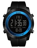 baratos -SKMEI Homens Relógio Esportivo / Relogio digital Chinês Calendário / Impermeável / Cronômetro PU Banda Luxo / Casual Preta