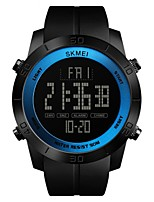 abordables -SKMEI Hombre Reloj Deportivo / Reloj digital Chino Calendario / Resistente al Agua / Cronómetro PU Banda Lujo / Casual Negro