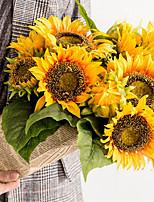 Недорогие -Искусственные Цветы 6 Филиал Классический европейский / Простой стиль Подсолнухи Букеты на стол
