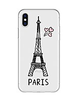 abordables -Coque Pour Apple iPhone X / iPhone 8 Plus Motif Coque Vue de la ville Flexible TPU pour iPhone X / iPhone 8 Plus / iPhone 8