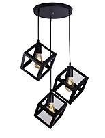 cheap -3-Light Geometric Pendant Light Ambient Light - Mini Style, 110-120V / 220-240V Bulb Not Included