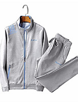 Недорогие -Муж. Толстовка / Activewear Set - Однотонный / Буквы, С принтом