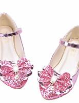 Недорогие -Девочки Обувь Искусственная кожа Весна & осень Удобная обувь / Детская праздничная обувь На плокой подошве для Золотой / Серебряный / Розовый