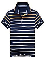 cheap -Men's Basic Polo - Striped / Letter / Portrait