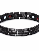 cheap -Men's Classic / Stylish Chain Bracelet - Titanium Steel, Stainless Creative Stylish, European, Trendy Bracelet Black For Street / Going out