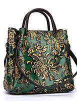 cheap -Women's Bags Nappa Leather Shoulder Bag Zipper Purple / Yellow / Brown