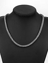 cheap -Men's Braided Chain Necklace - Stainless Creative Vintage, Punk Black 50 cm Necklace 1pc For Daily, Street