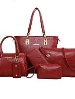 cheap -Women's Bags PU(Polyurethane) Bag Set 6 Pieces Purse Set Solid Red / Dark Blue / Yellow