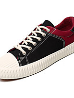 cheap -Men's Light Soles Canvas Spring Sneakers Black / Red / Black / Yellow