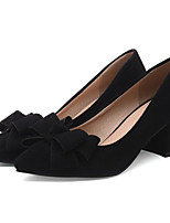 cheap -Women's Shoes Suede Spring Comfort / Basic Pump Heels Chunky Heel Black / Gray / Red