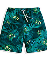 cheap -Men's Swim Shorts Ultra Light (UL), Quick Dry, Water Repellent POLY Swimwear Beach Wear Board Shorts Floral / Botanical Watersports
