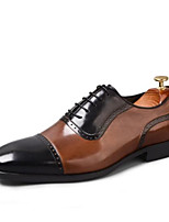 cheap -Men's Formal Shoes Nappa Leather Fall & Winter Oxfords Black