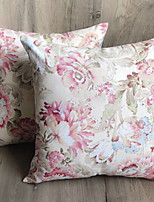 cheap -1 pcs Cotton / Linen Pillow Case, Floral Print Flower