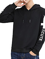 cheap -Men's Basic Hoodie - Letter