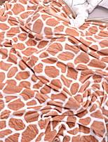 Недорогие -Коралловый флис, Активный краситель Геометрический принт / Простой Хлопок / полиэфир одеяла