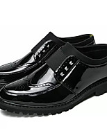 Недорогие -Муж. Лакированная кожа Лето Удобная обувь Туфли на шнуровке Черный