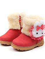 cheap -Girls' Shoes PU(Polyurethane) Spring & Summer Comfort / Fashion Boots Boots Walking Shoes for Kids Brown / Red / Pink / Booties / Ankle Boots