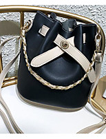 cheap -Women's Bags PU(Polyurethane) Shoulder Bag Solid Black / Blushing Pink / Beige