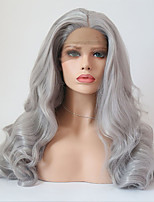 cheap -Synthetic Lace Front Wig Wavy Middle Part Synthetic Hair Adjustable / Heat Resistant Gray Wig Women's Long Lace Front / Yes