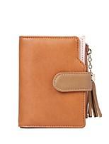 cheap -Women's Bags PU(Polyurethane) Wallet Tassel Red / Blushing Pink / Brown