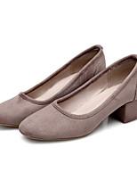 Недорогие -Жен. Обувь Замша Зима Удобная обувь Обувь на каблуках На толстом каблуке Серый / Розовый / Хаки